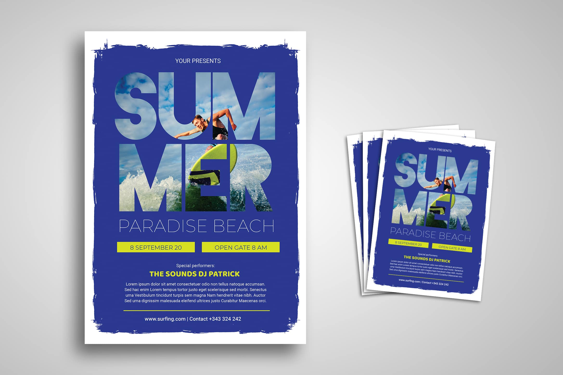 Flyer Template - Summer Paradise
