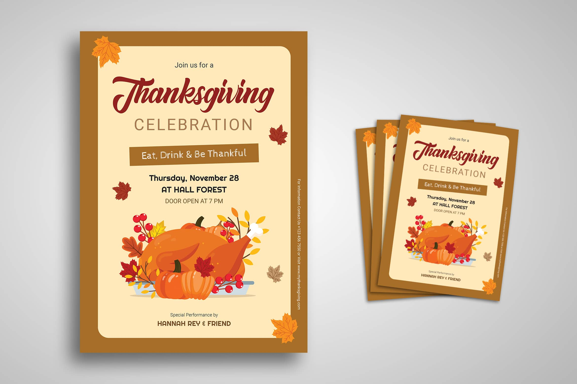 Flyer Template - Thanksgiving Celebration