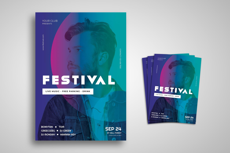 Flyer Template - Festival Music Live