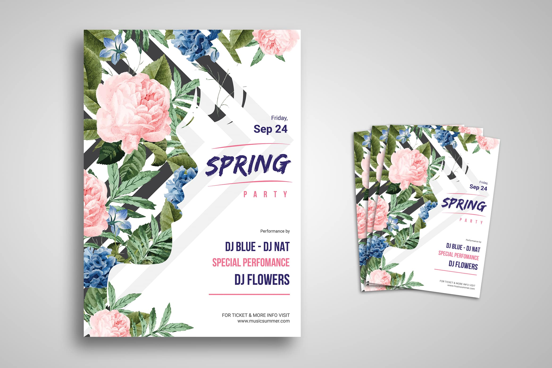 Flyer Template - Spring Party