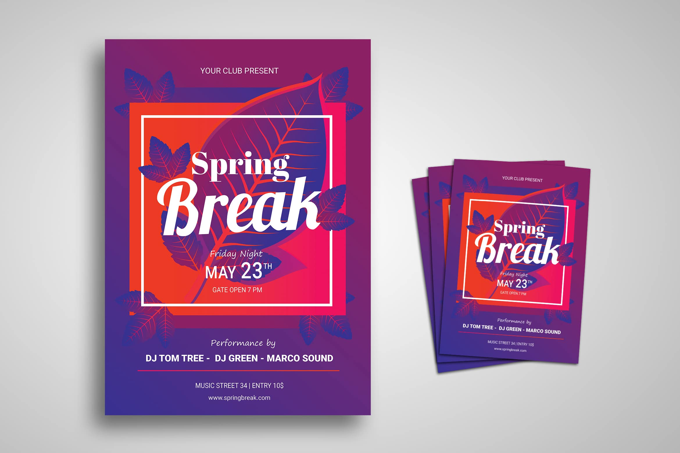 Flyer Template - Spring Break