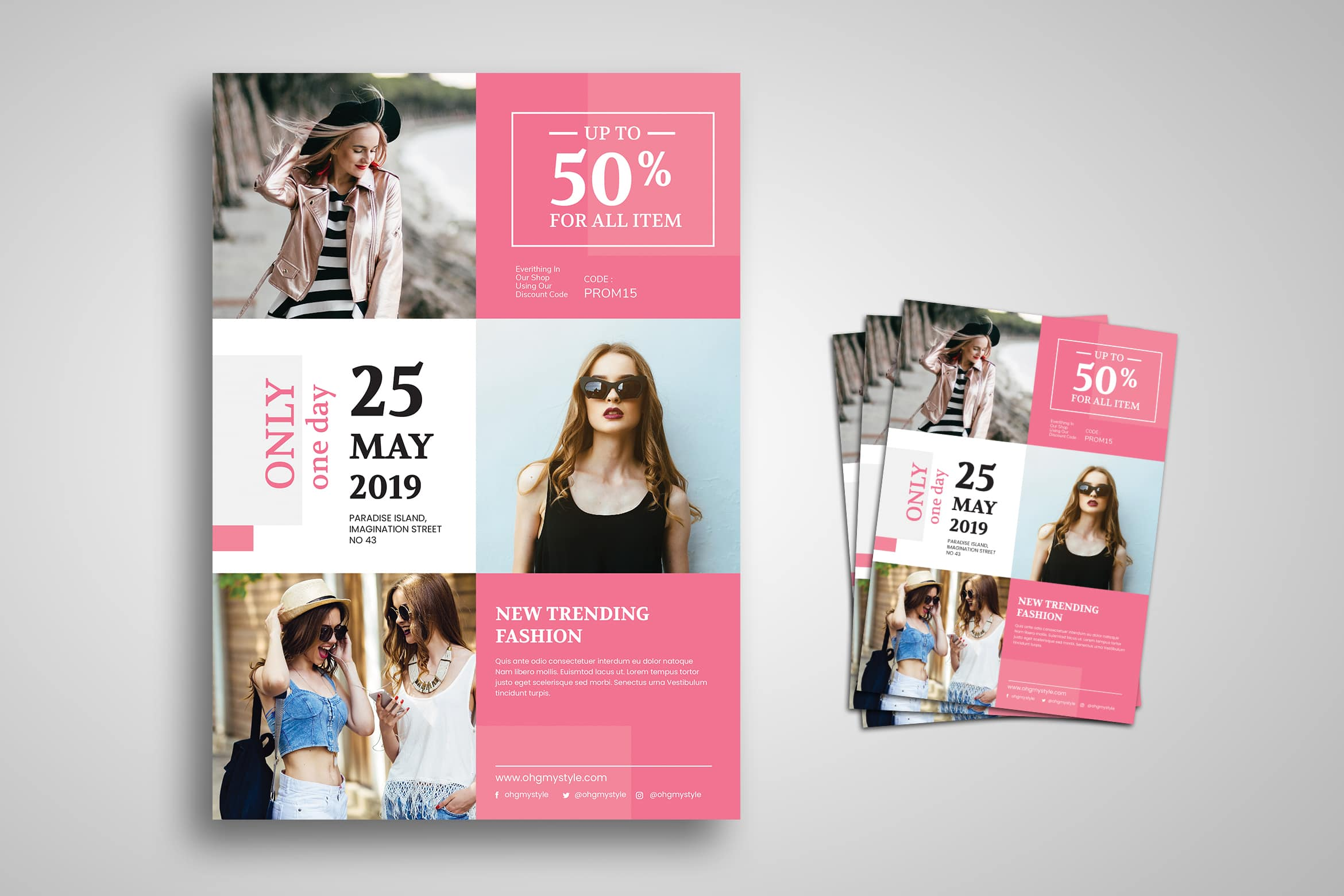 Flyer Template - Trendy Fashion Design