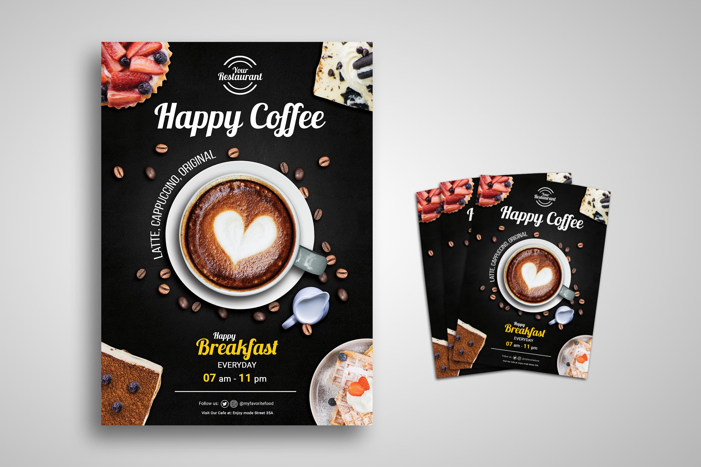 Flyer Template - Happy Coffee