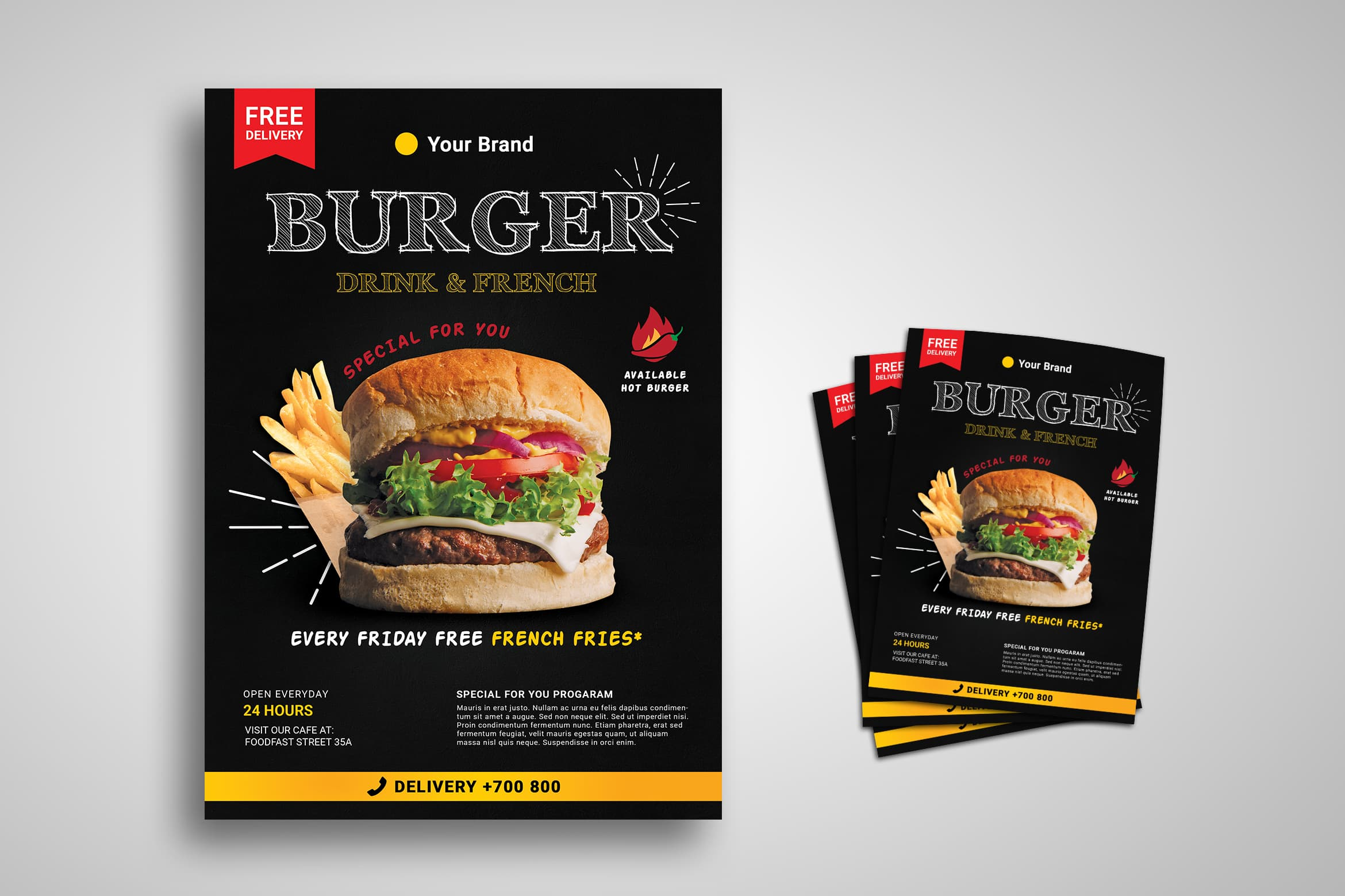 Flyer - Burger Restaurant