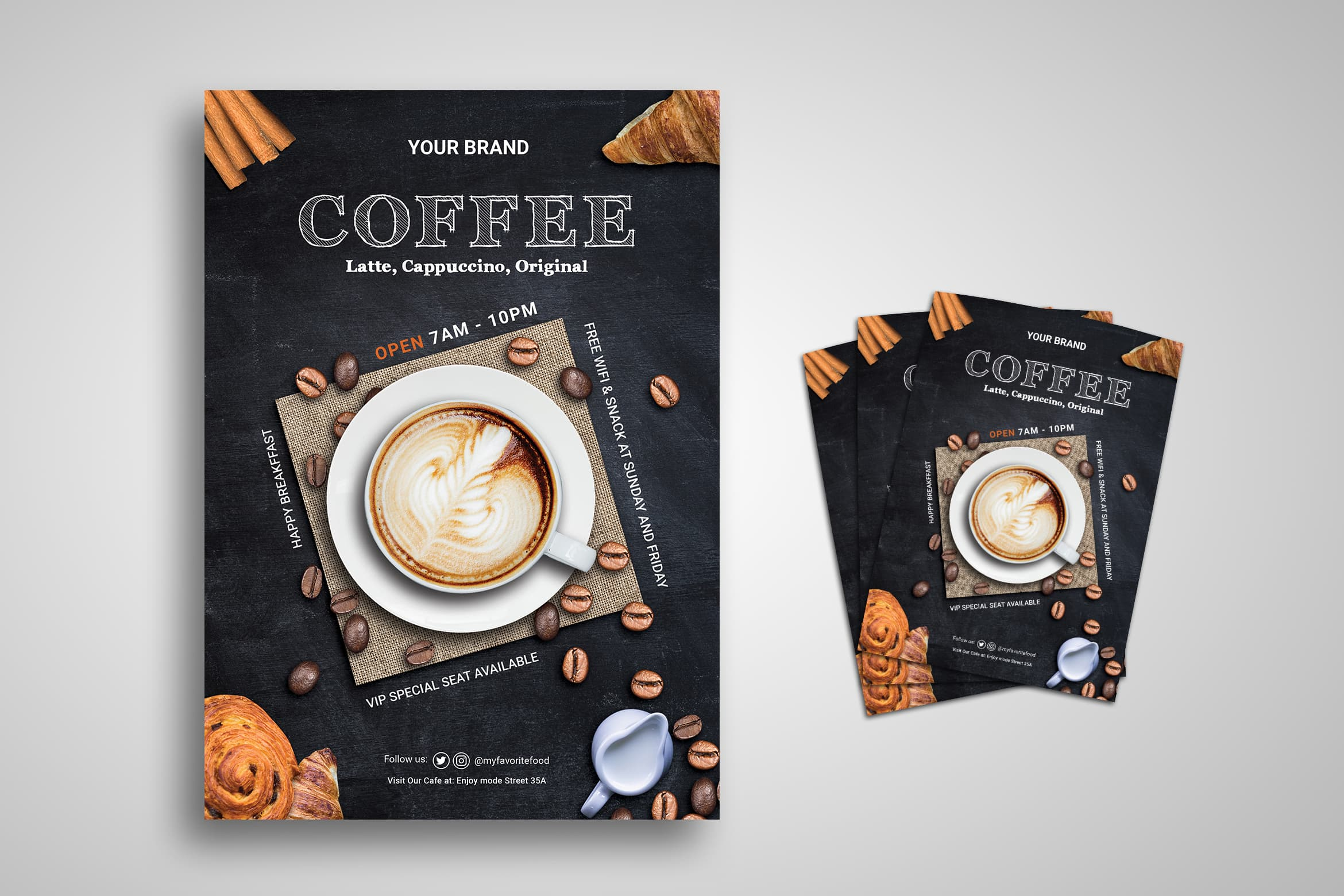 Flyer Template - Coffee Latte