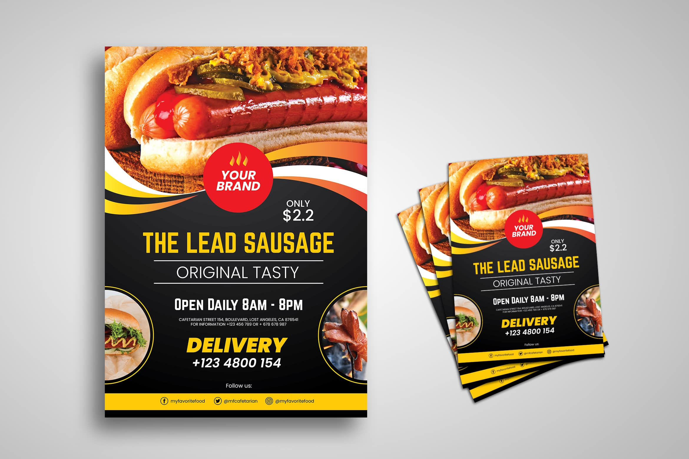 Flyer Template - Sausage Original Tasty