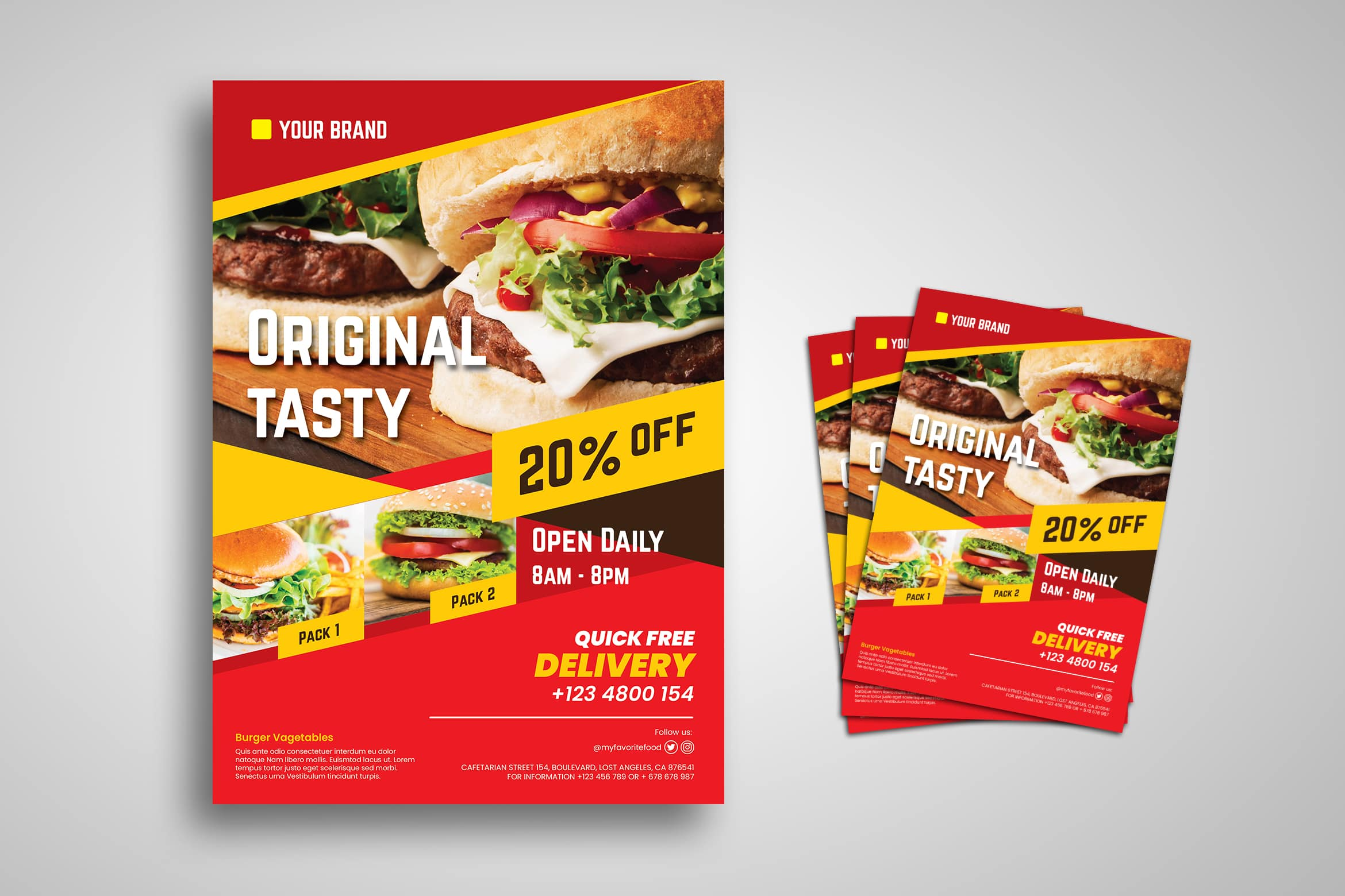 Flyer Template - Original Fast Food