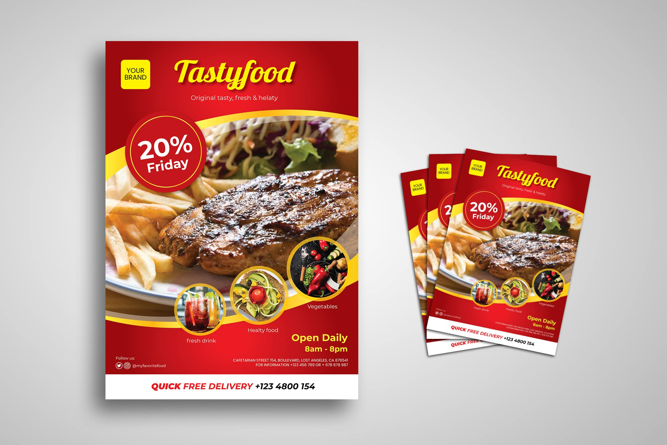 Flyer Template - Tasty Food