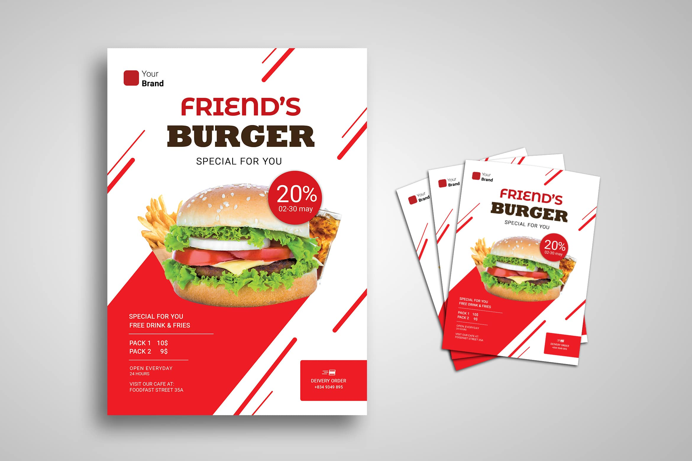 Flyer Template - Delivery Food