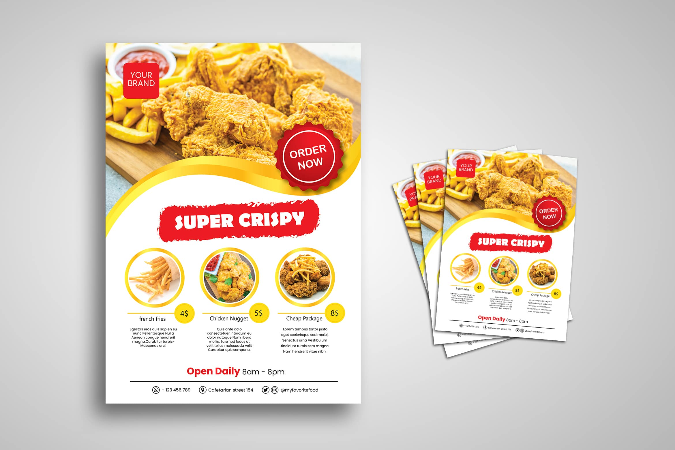 Flyer Template - Western Fast Food