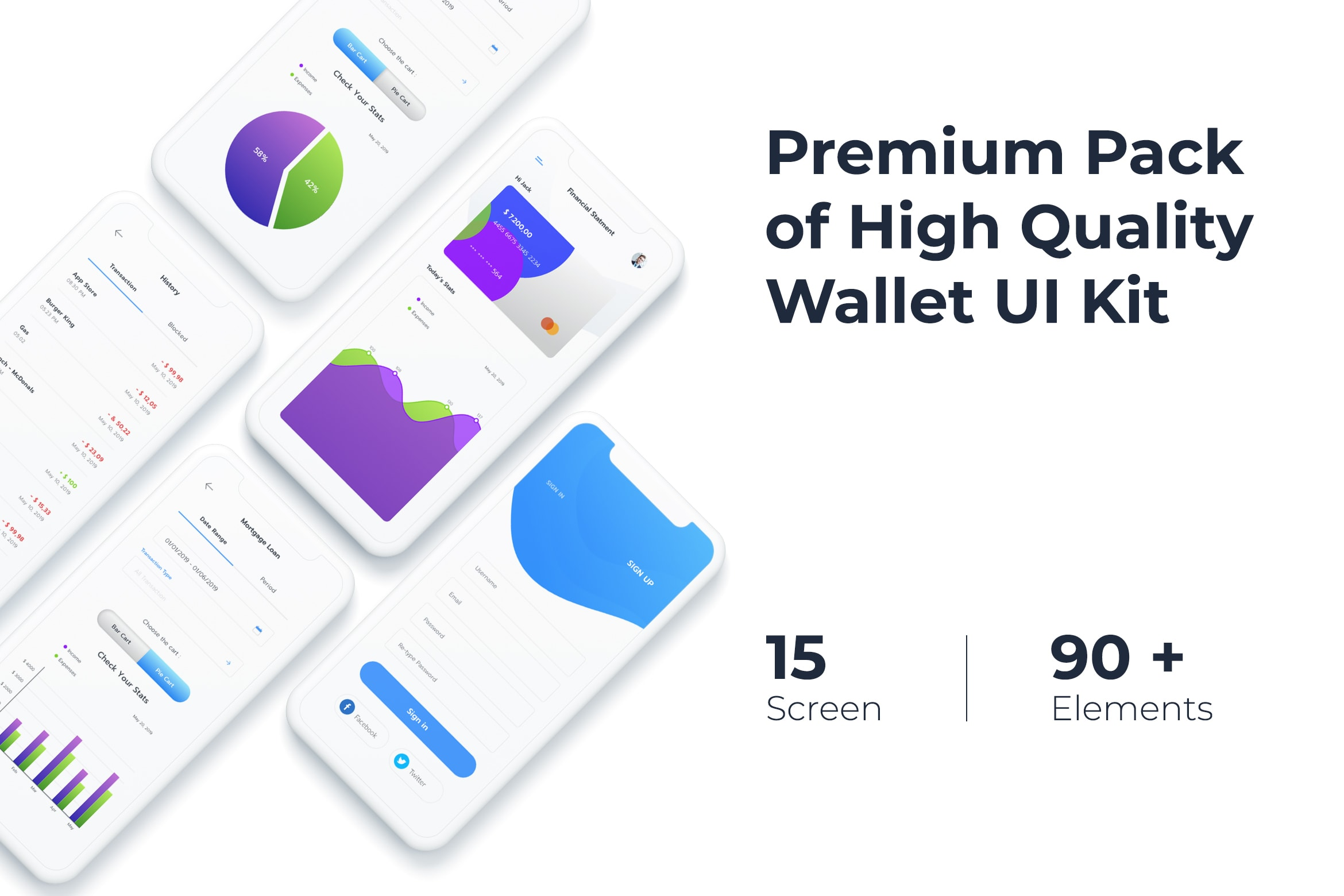 Mobile UI KIT - Wallet App 2