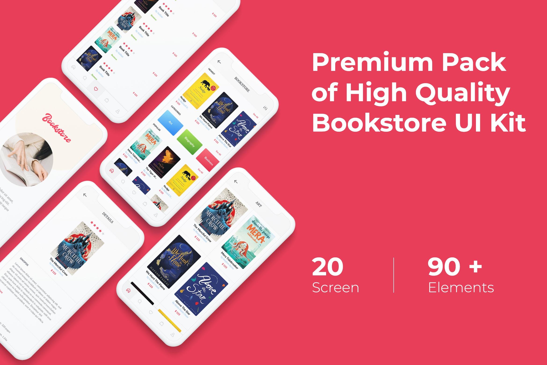 Mobile UI KIT - Bookstore App