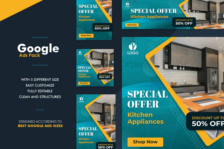 Google Ads Web Banner - Kitchen Set
