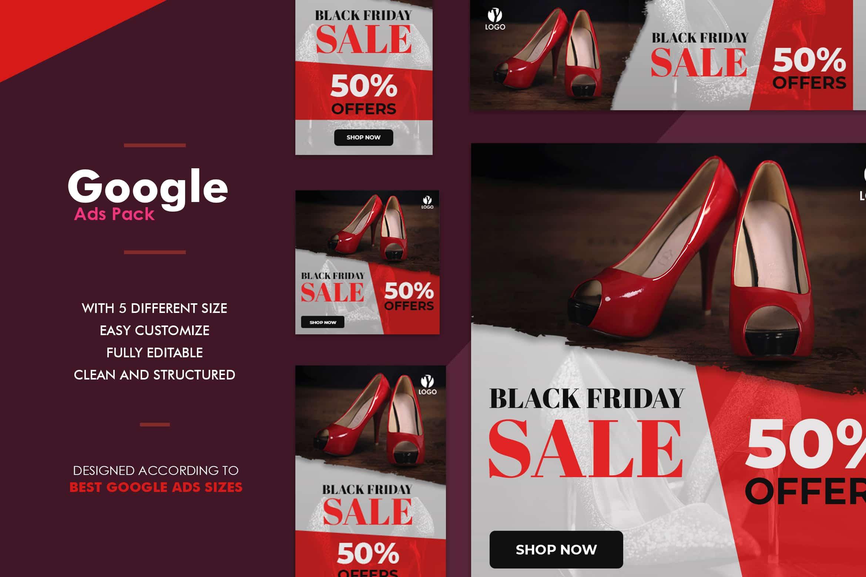 Google Ads Web Banner - Women Shoes Sale