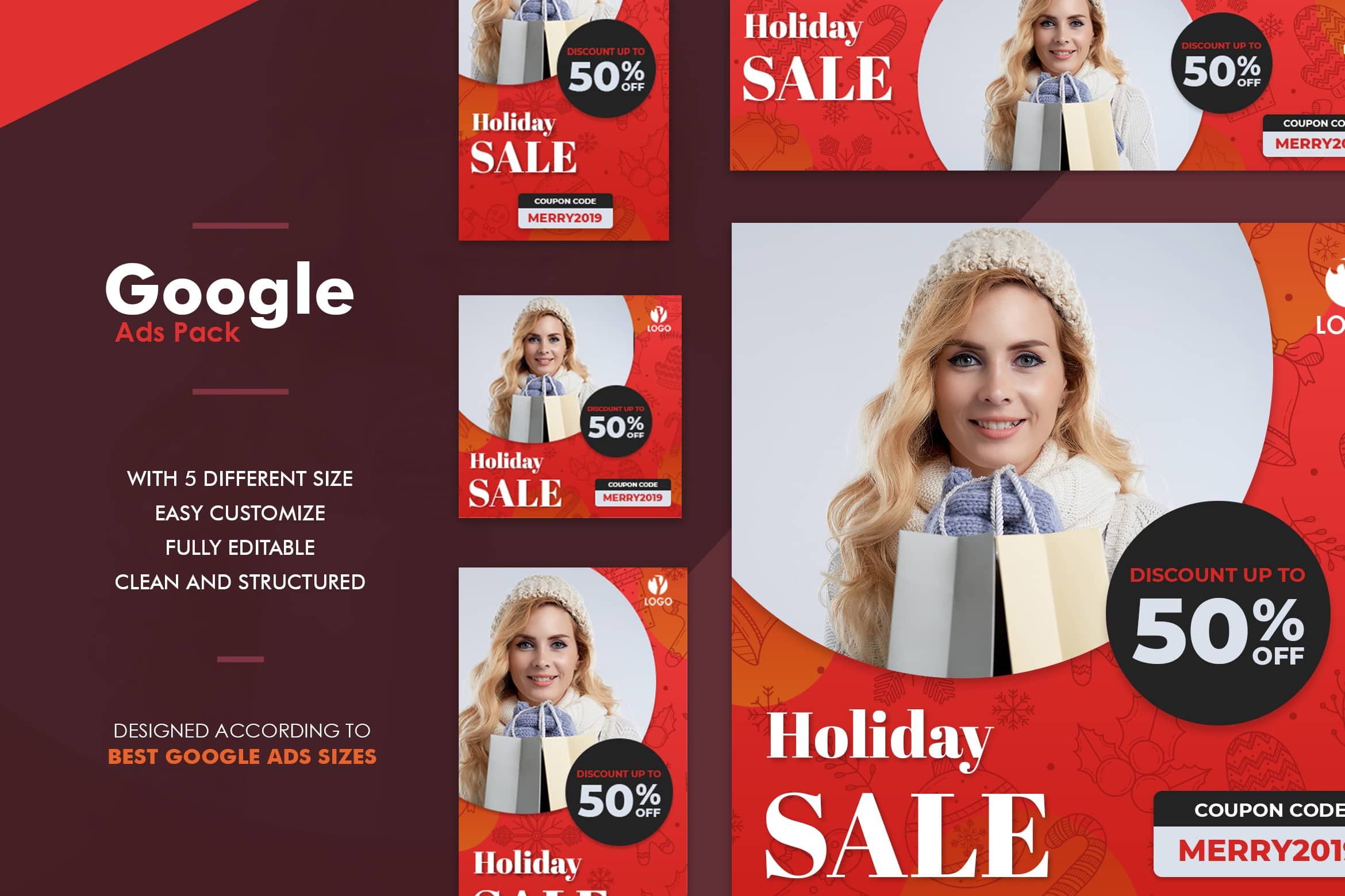 Google Ads Web Banner - Holiday Sale