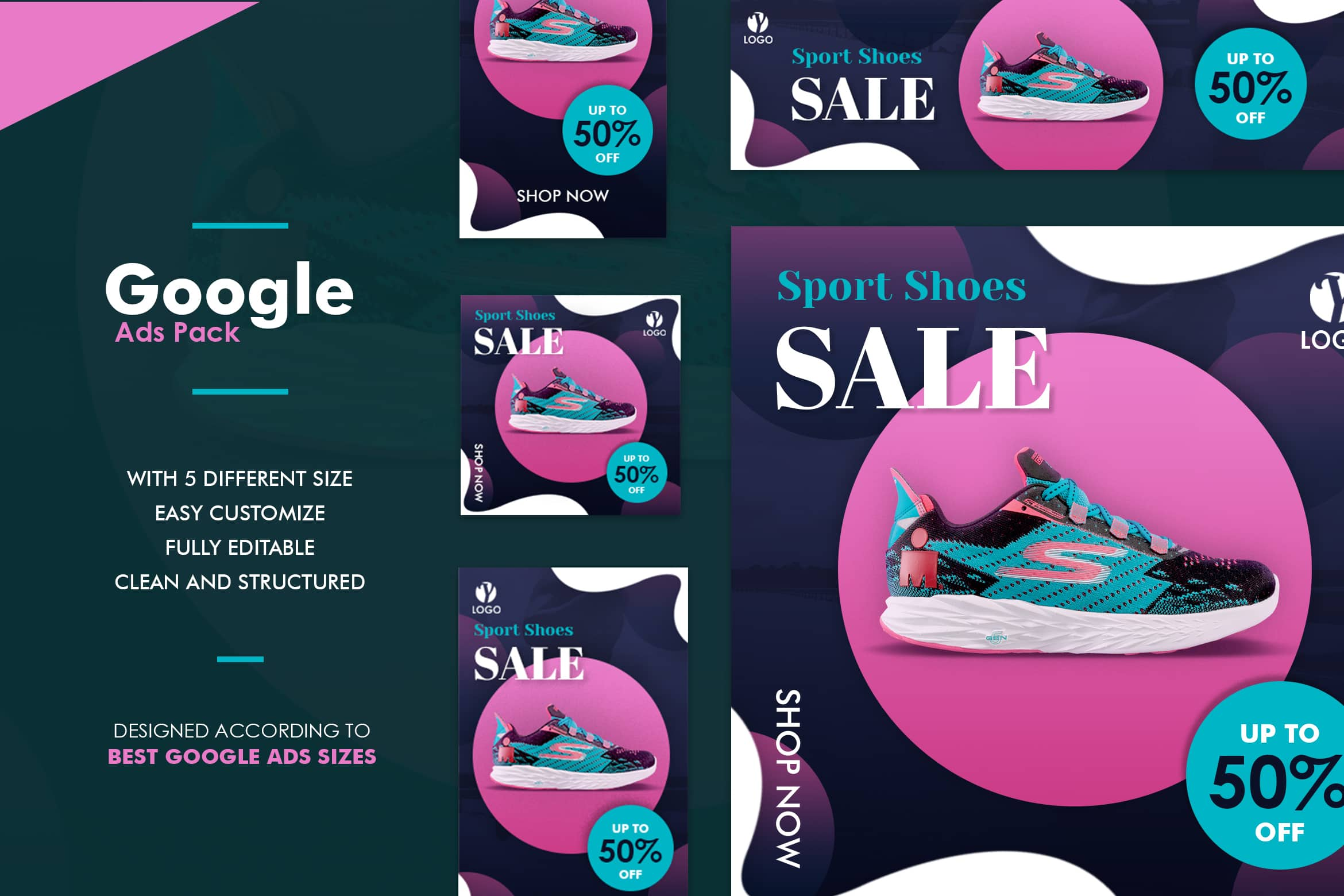 Google Ads Web Banner - Sport Shoes Sale