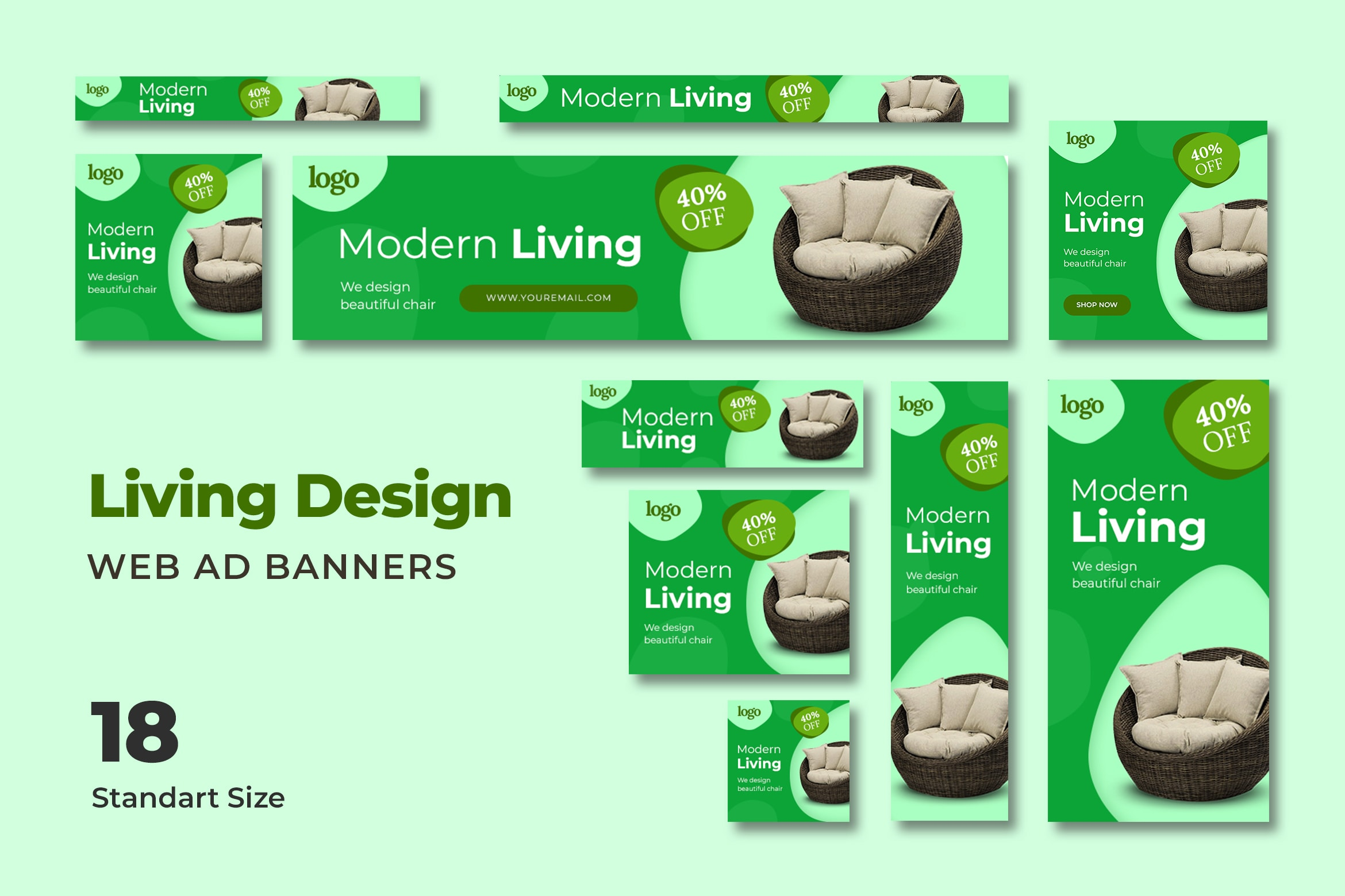 Web Banner - Modern House Promotion