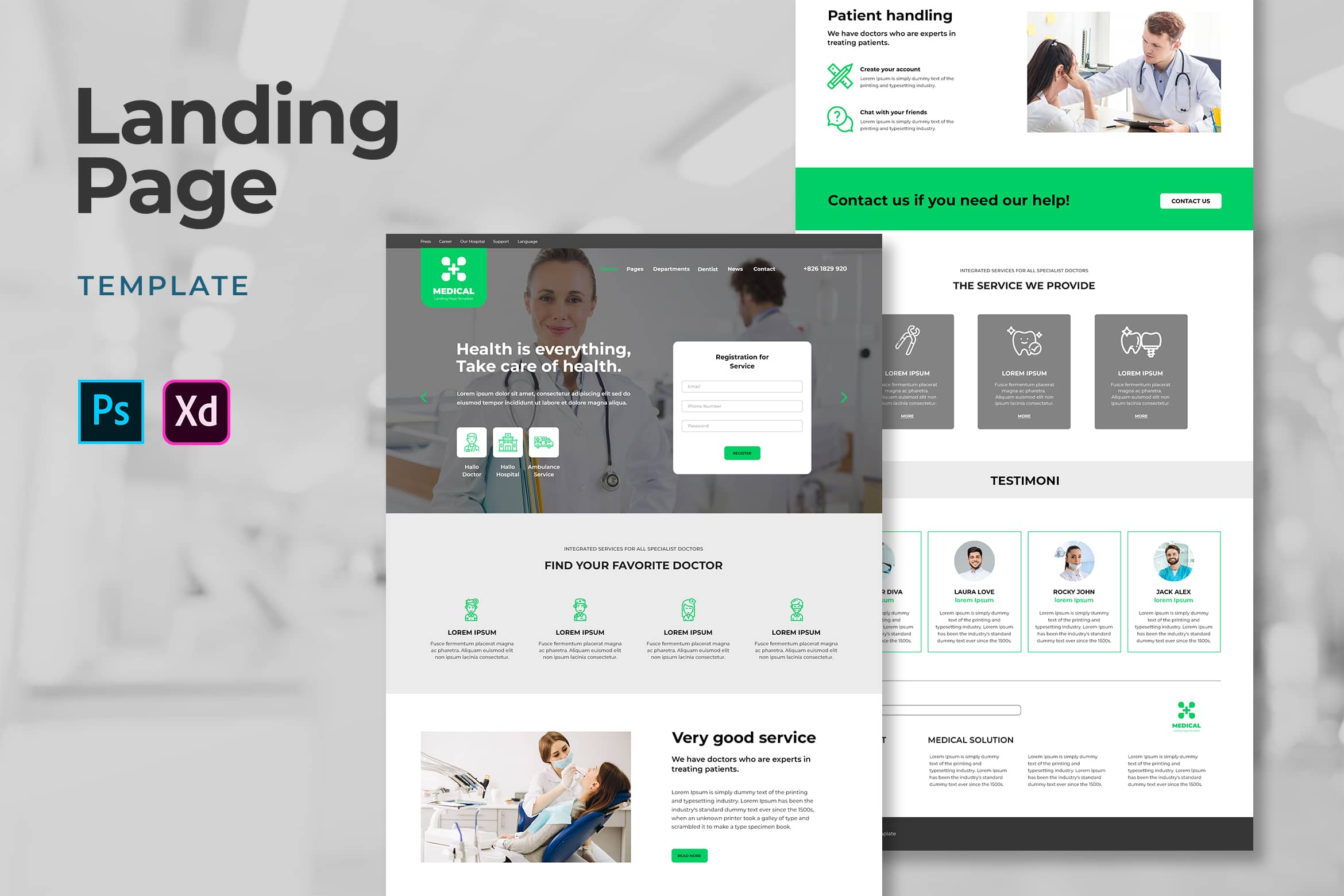 landing pages design template