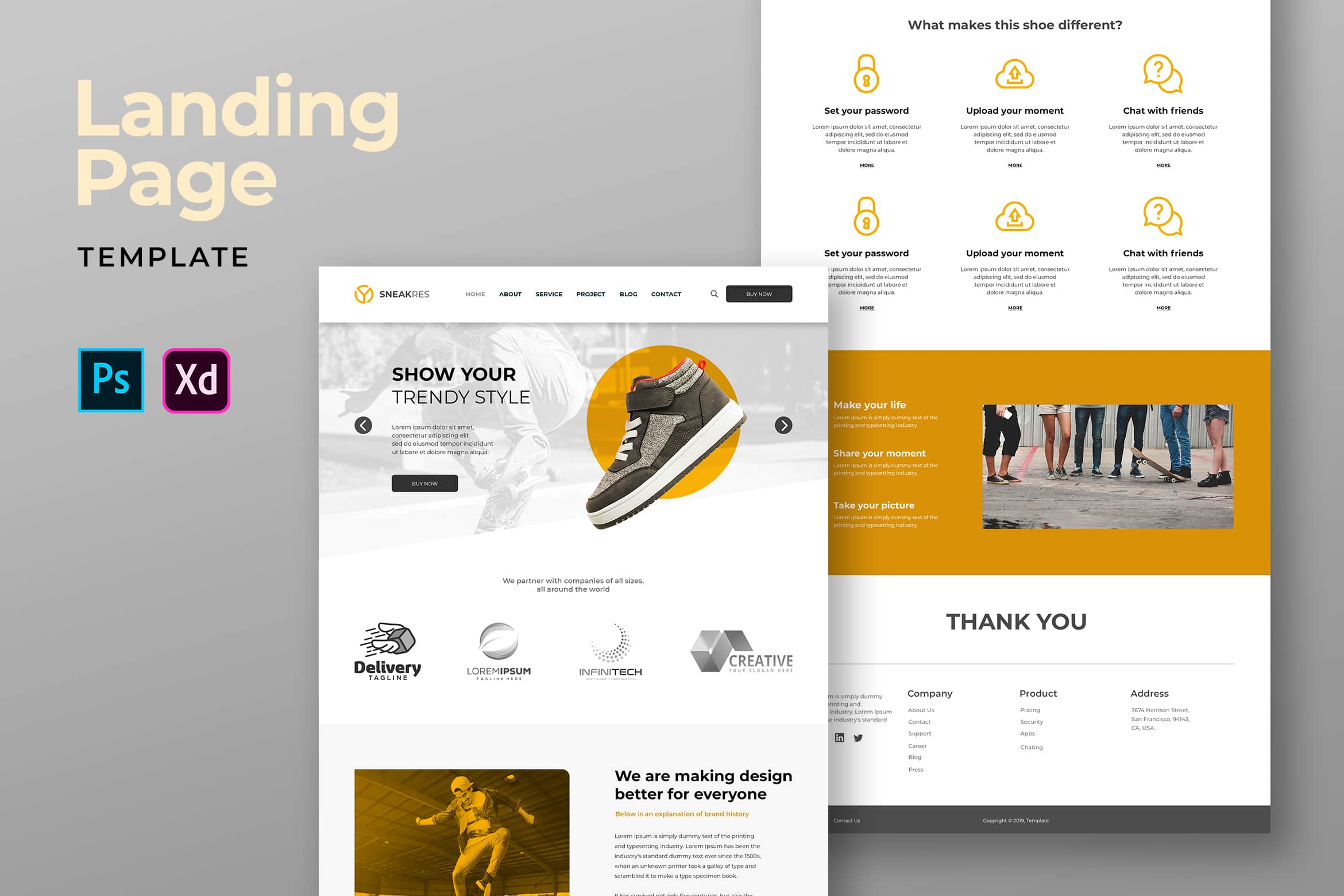 Landing Pages - Trendy Shoes