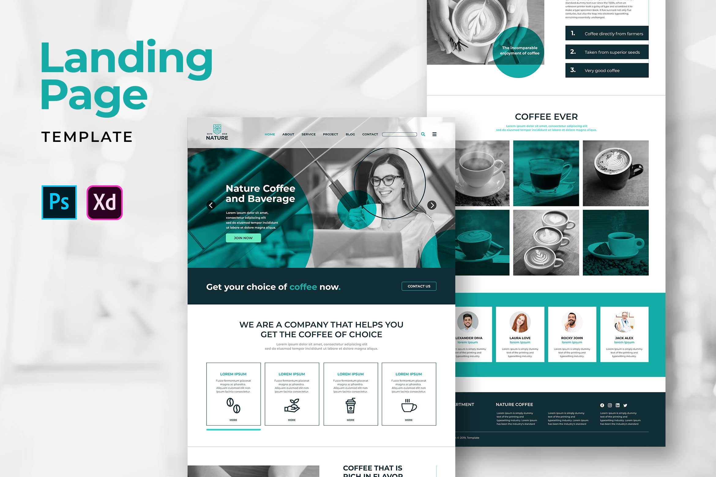 Landing Pages - Nature Coffee
