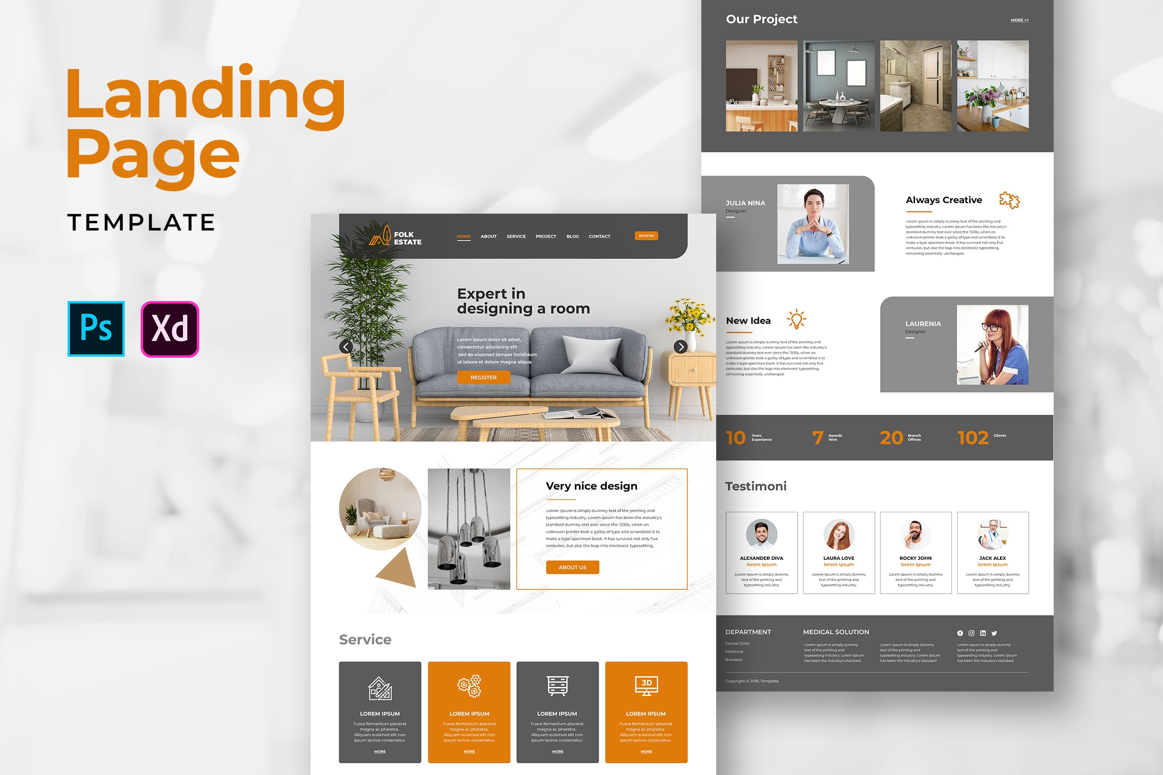 Landing Pages - Room Design Services