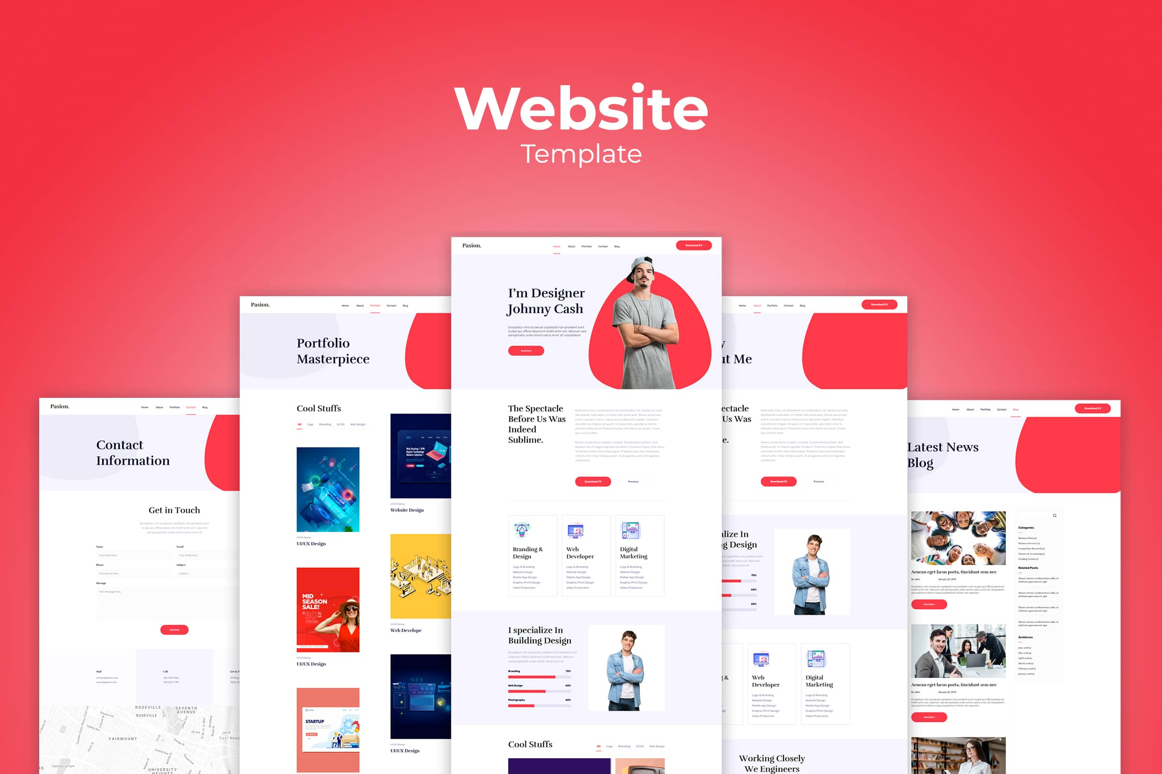 Website Template - Creative Digital Market