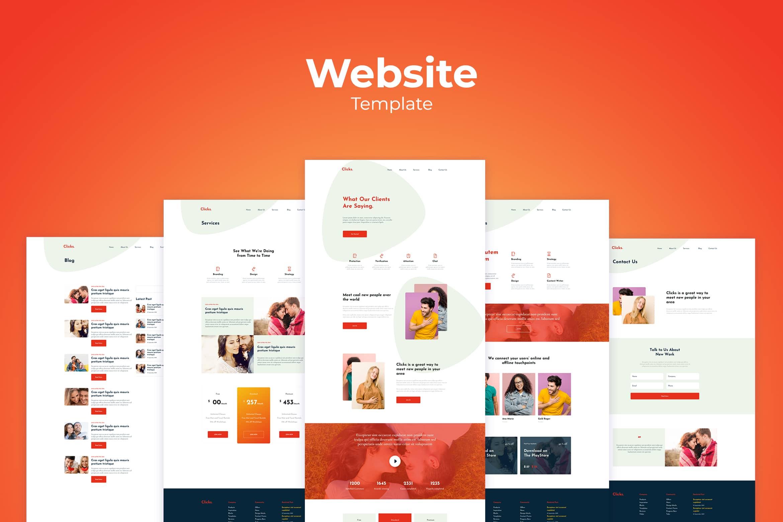 Website Template - Social Branding
