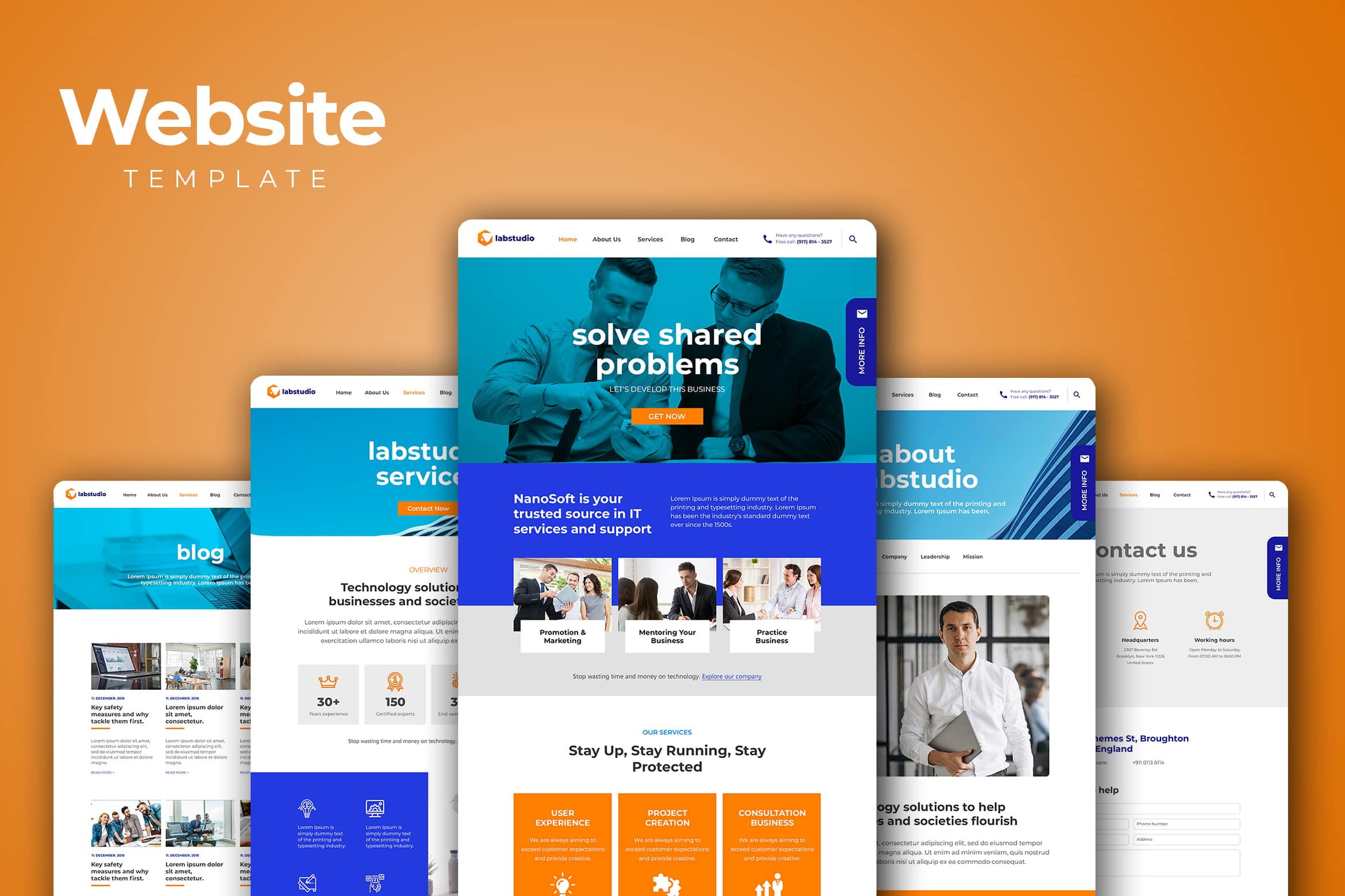 Website Template - Information Technology Services