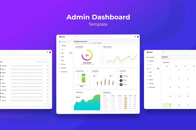 Admin Dashboard - E-Commerce Charts