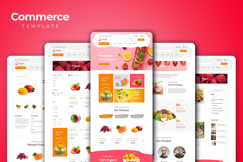 Web Commerce - Fresh Fruits Store