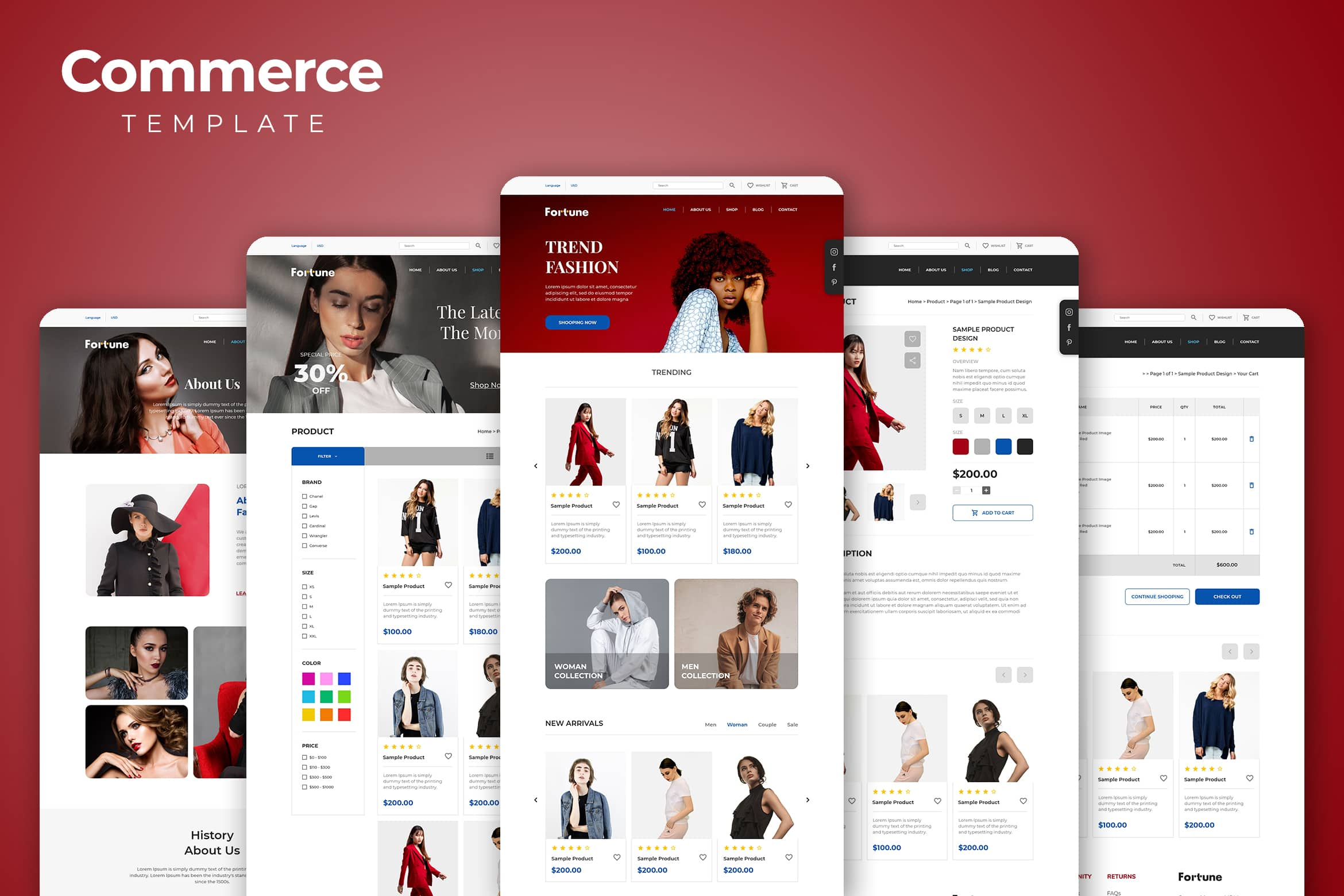Web Commerce - Fashion Trend Template