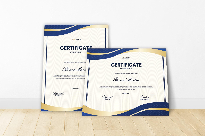 Certificate - Company Achievement