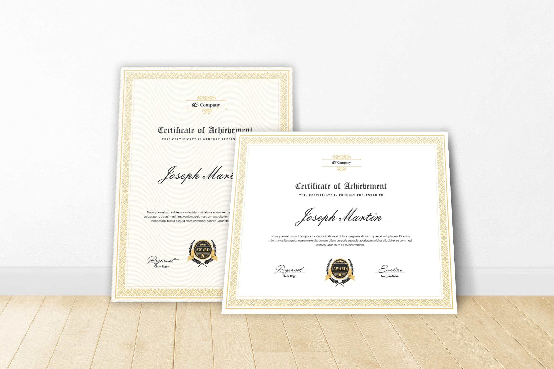 Certificate - Awards Theme