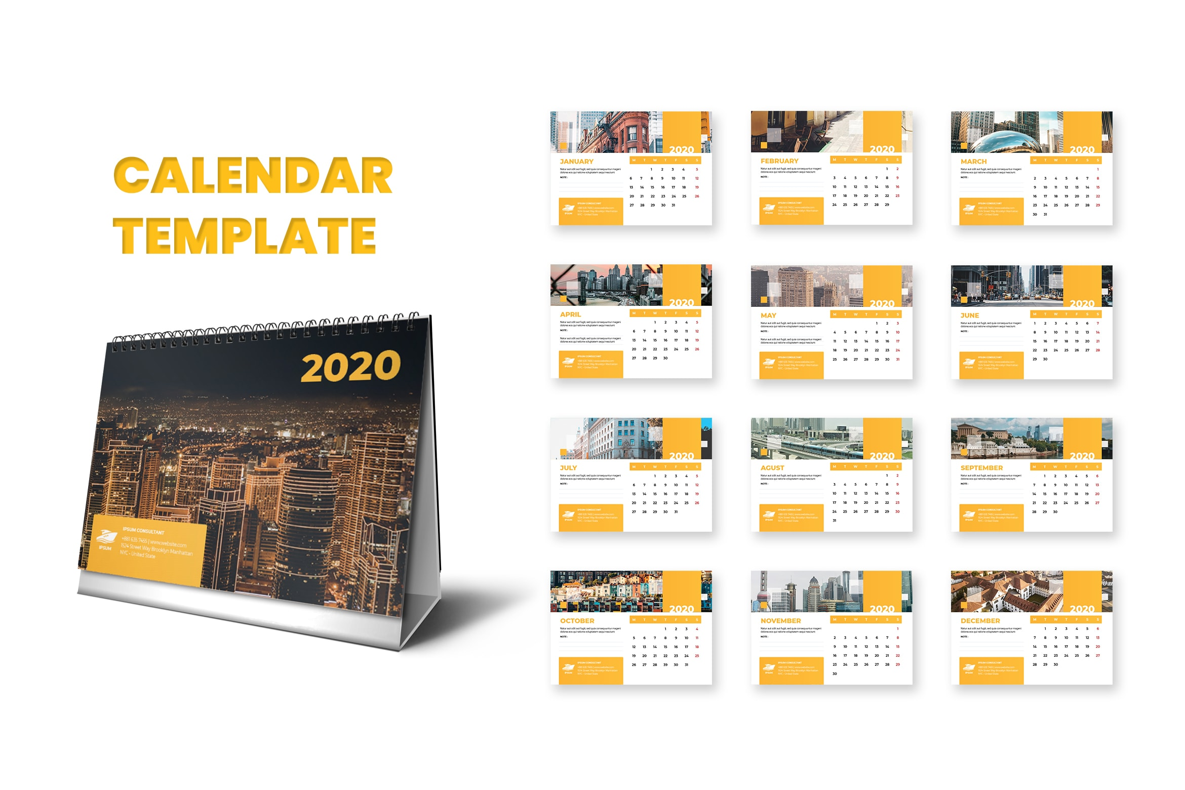 Calender - City View Template