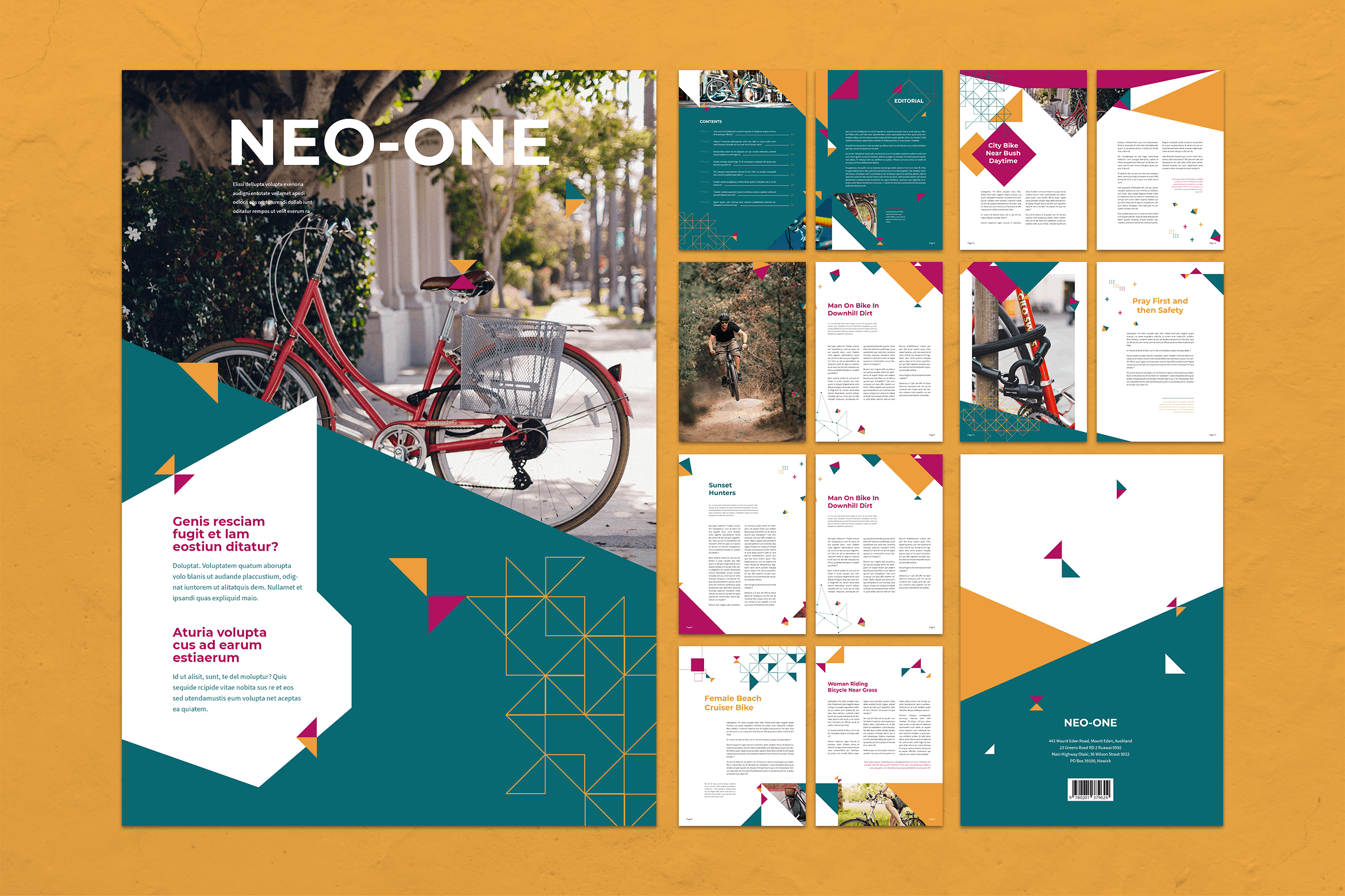 Magazine Template - Bike Adventure