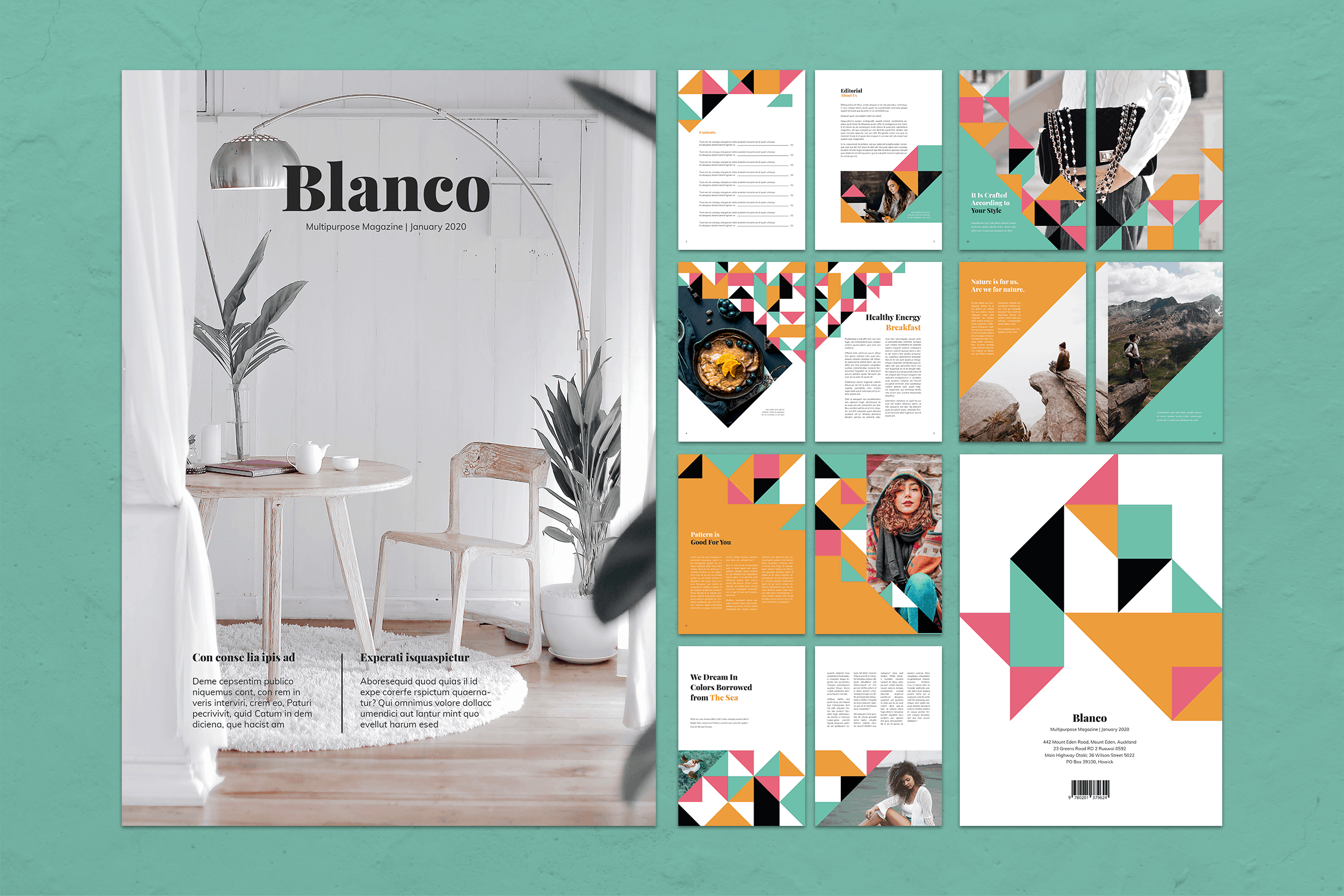Magazine Template - Glamour Style