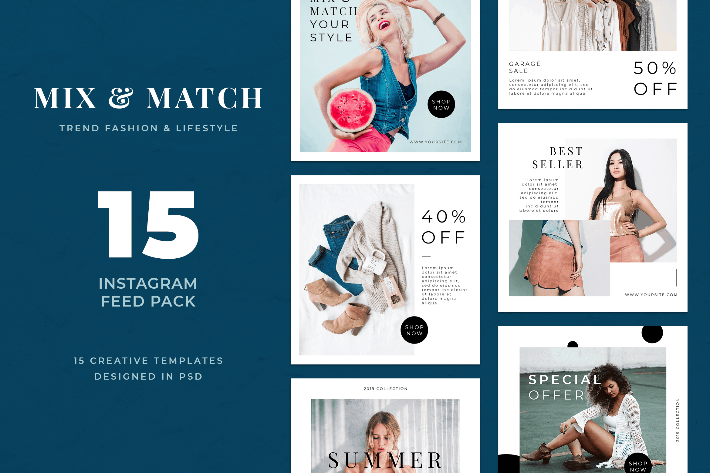 Instagram Banner - Mix Fashion Theme