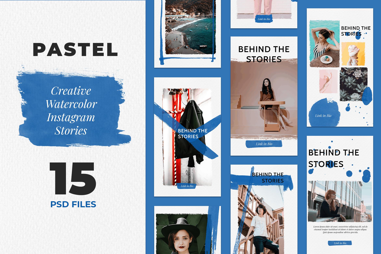 Instagram Stories - Pastel Watercollor Design