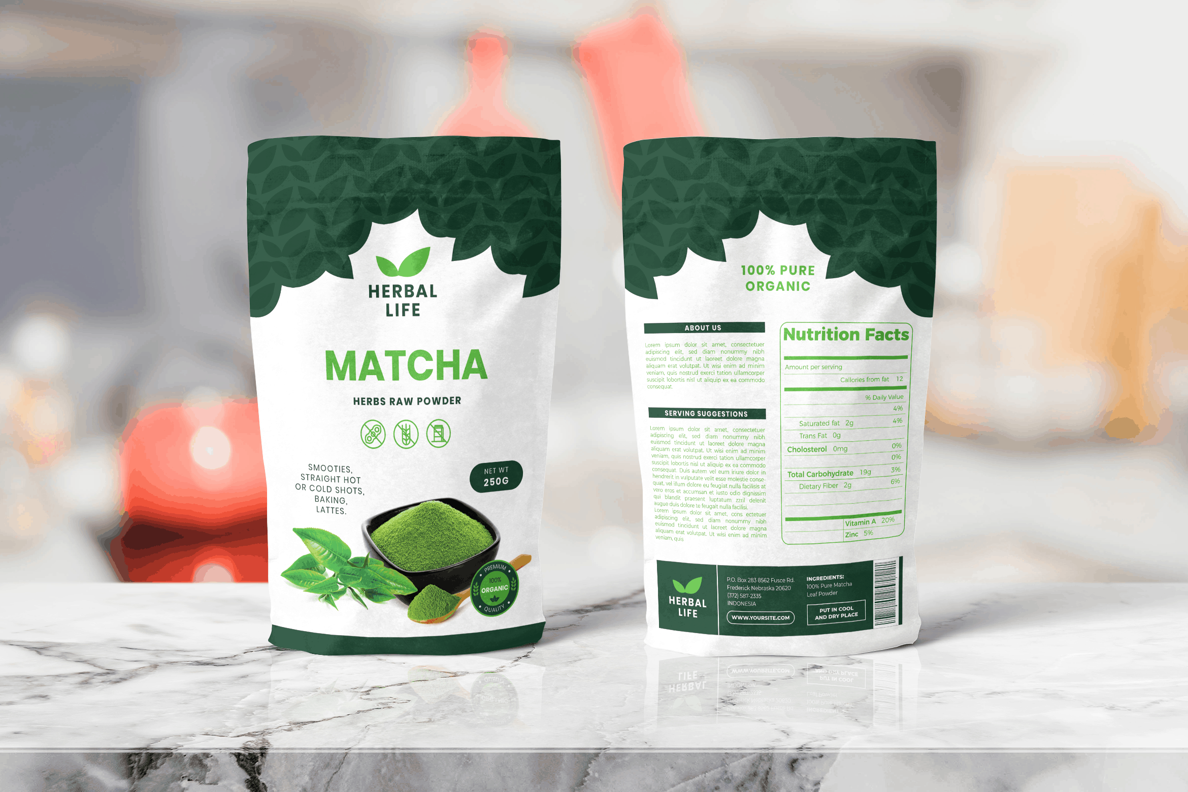 Packaging Template - Organic Herbs