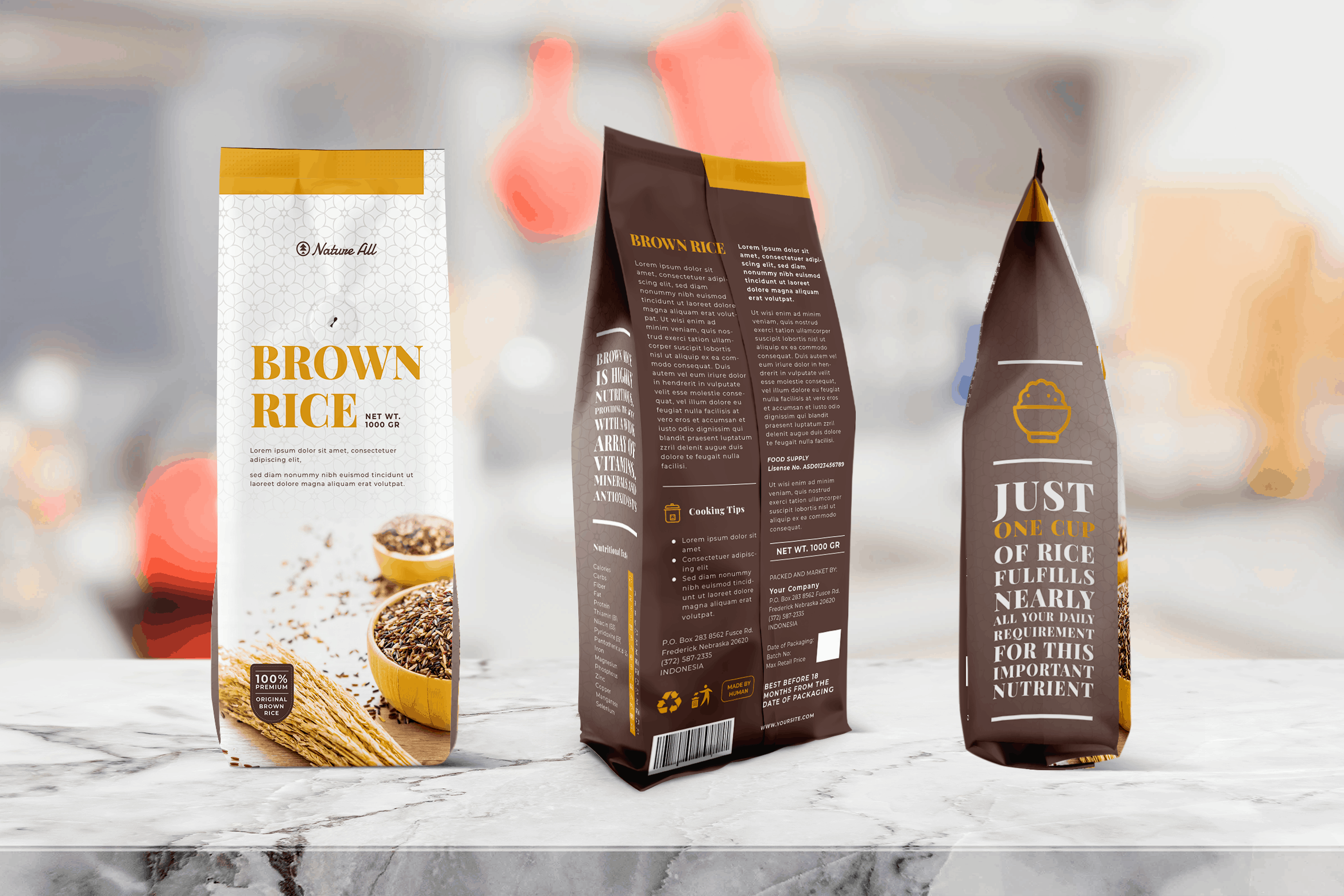 Packaging Template - Brown Rice
