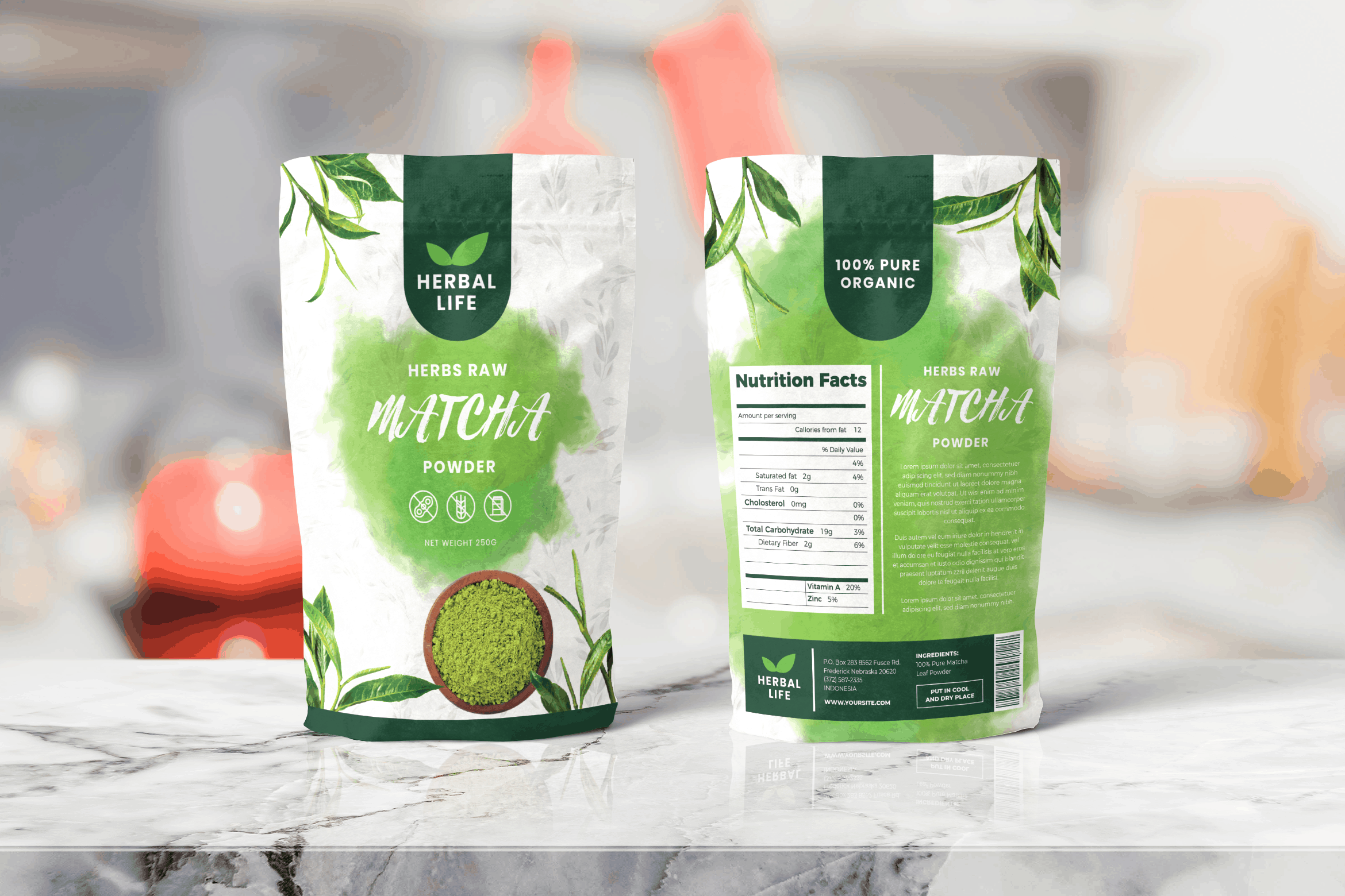 Packaging Template - Matcha Powder