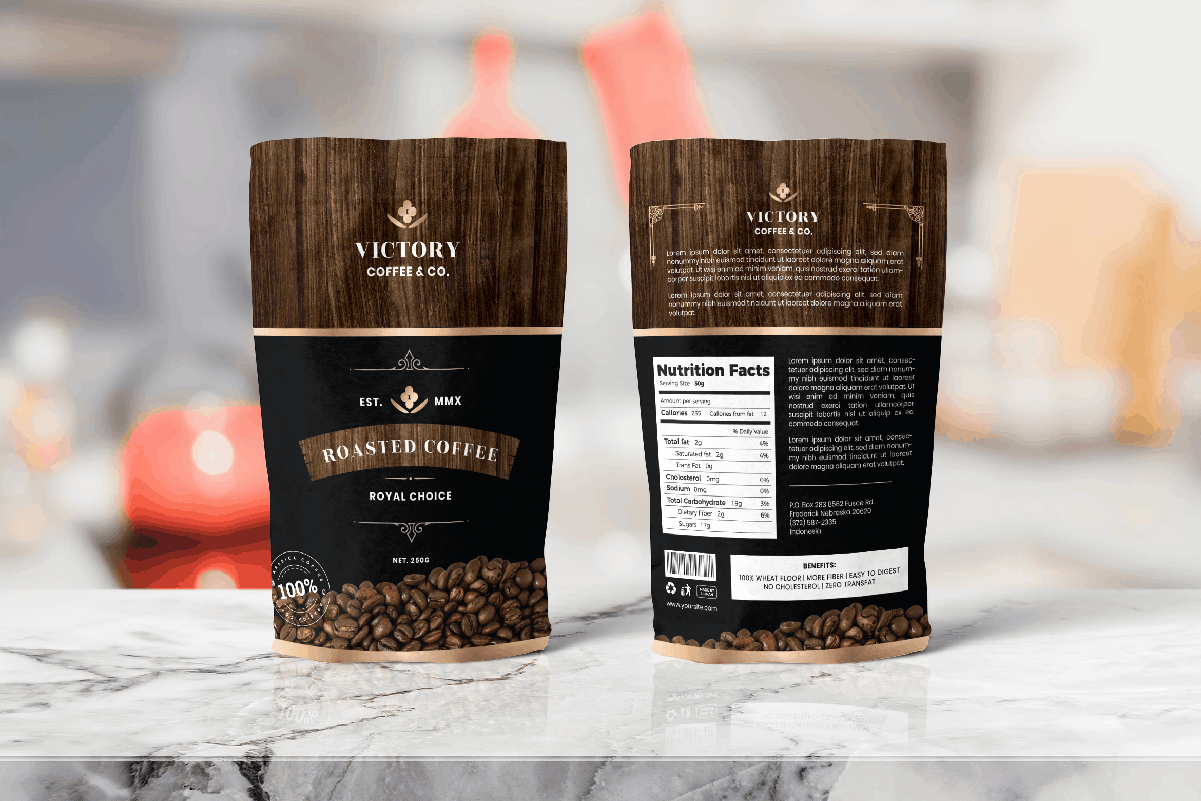Packaging Template - Roasted Coffee