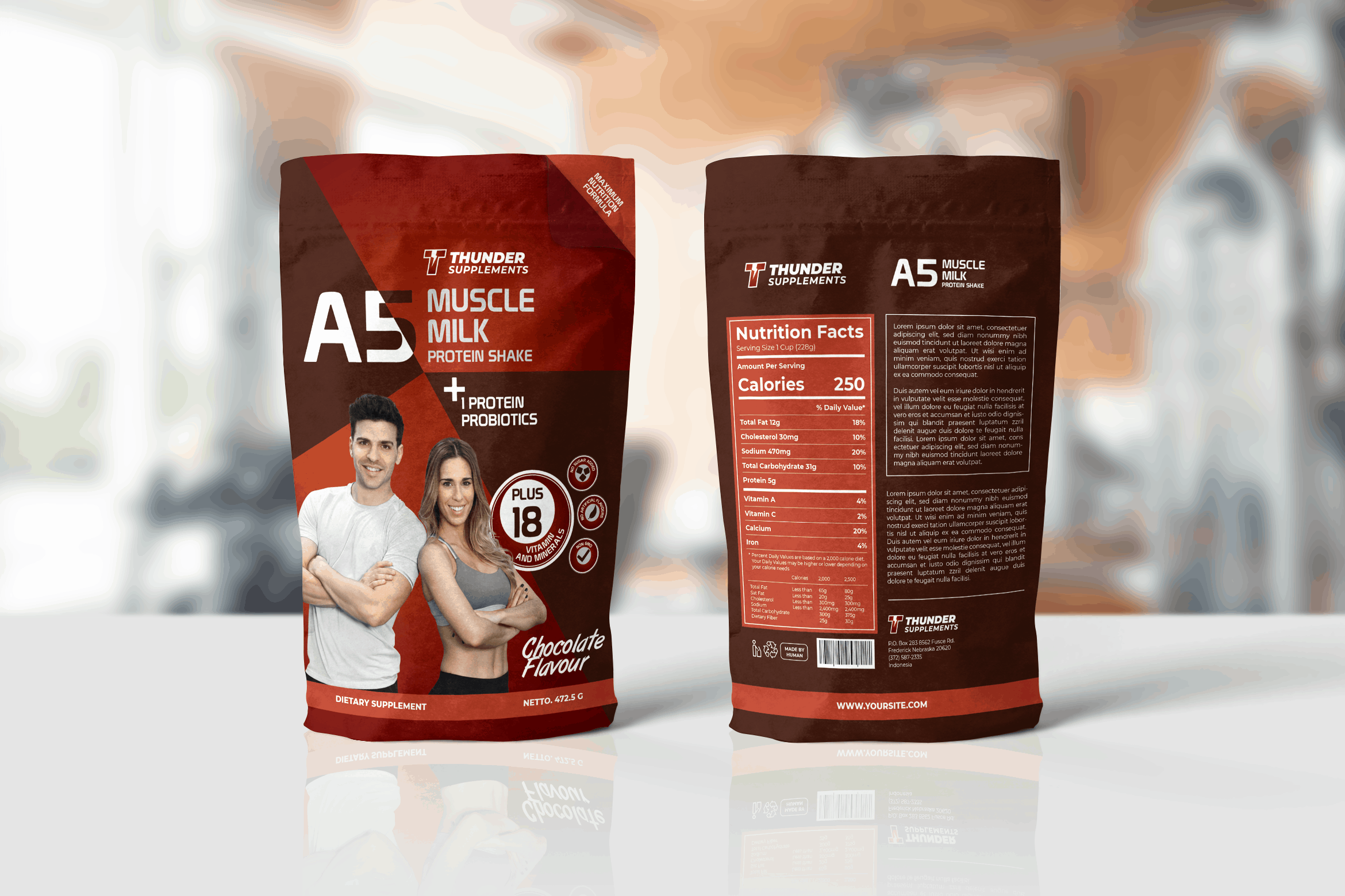 Packaging Template - Muscle Supplement