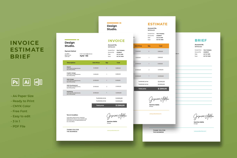 Invoice - Graphic Design Marketing
