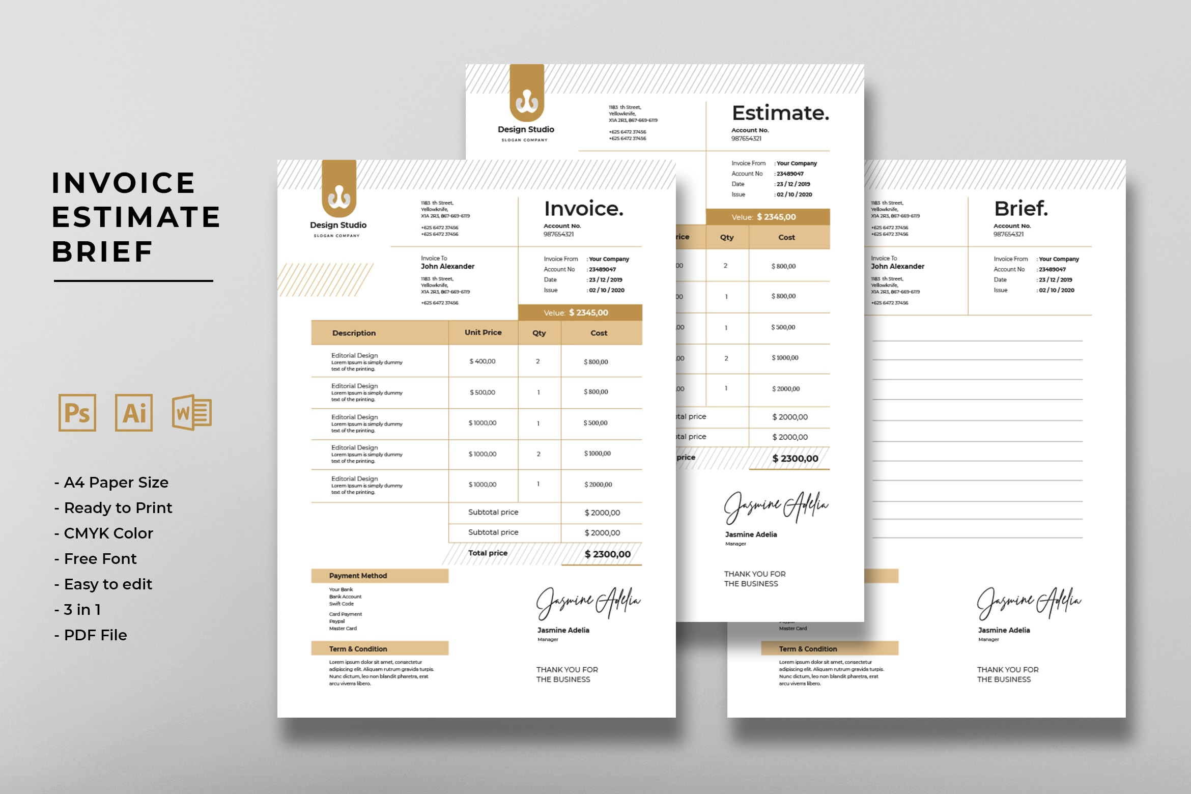 Invoice - Graphic Design Studio