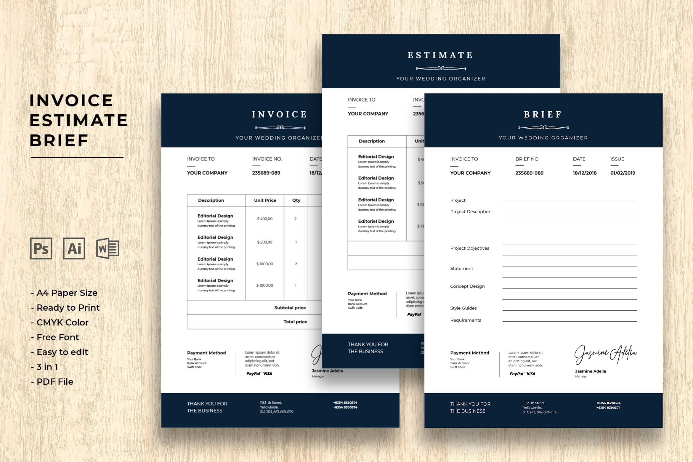 Invoice - Wedding Organizer
