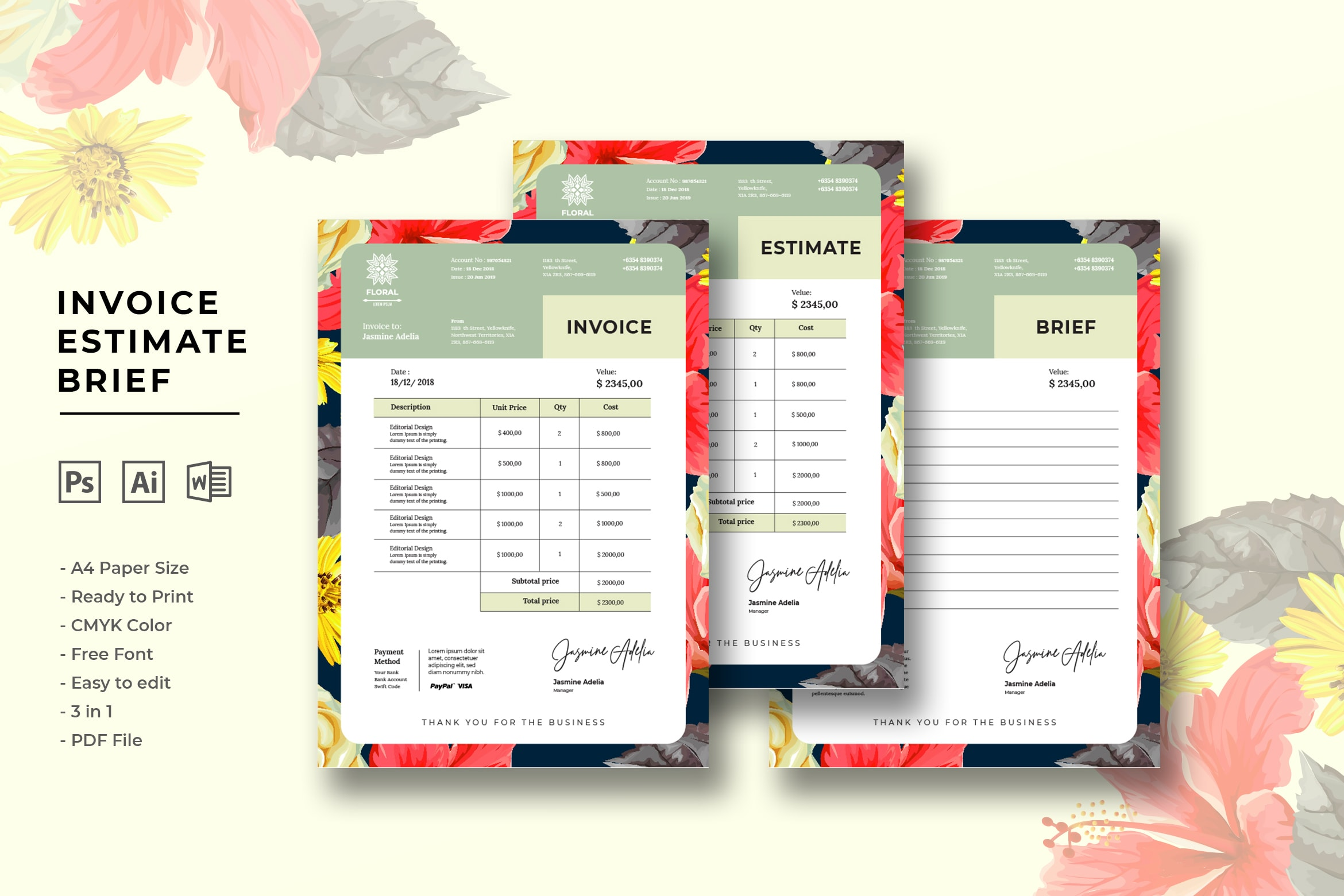 invoice design templates