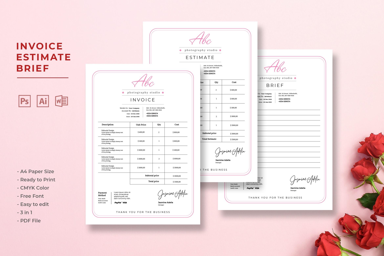 Invoice - Photographer Studio