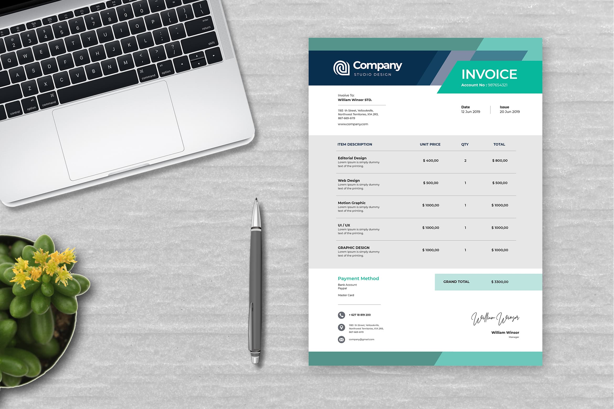 Invoice - Motion Graphics