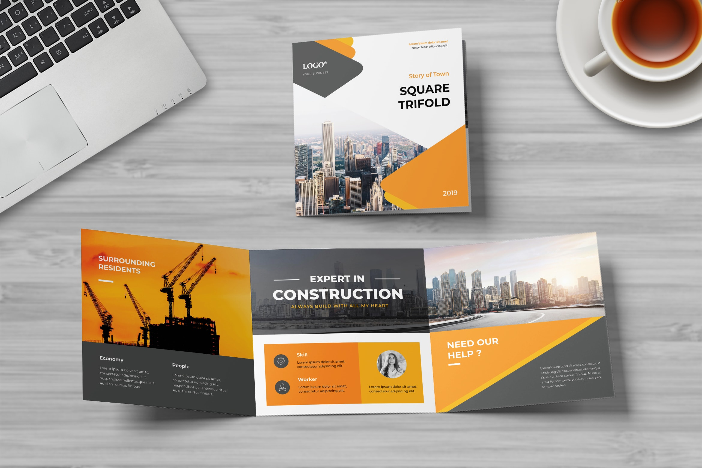 Square Trifold - Town Construction Service